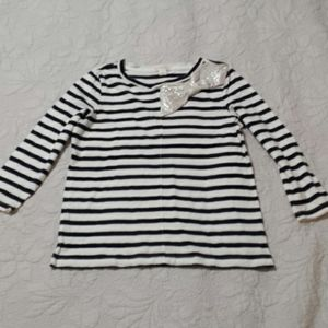 Girls New Crewcuts Striped Shirt Size 8